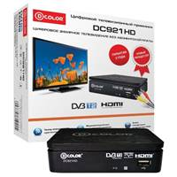 ТВ-тюнер DVB-T2 D-color DC921HD